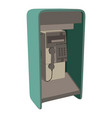 phone booth telephone london box red english icon vector image