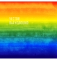 rainbow watercolor background brushed ink texture vector image