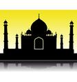 Taj Mahal silhouette vector image