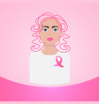 world cancer day breast disease awareness vector image