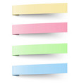 Yellow red blue and green sticky notes vector image