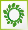 tree with circles and leaves on the branches vector image