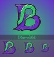 Halloween decorative alphabet - B letter vector image