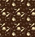 Retro gentleman elements - bowler moustache vector image