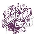 black and white creative and idea quote o vector image
