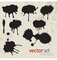 Ink stains set 5 vector image vector image