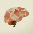 Abstract brain low poly concept vector image