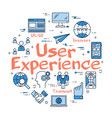 blue round user experience concept vector image