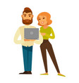 business people man and woman in casual with vector image