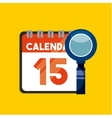 calendar and loupe icons vector image