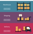 Cargo and delivery shipping banner vector image