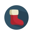 christmas sock decoration icon vector image