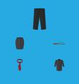 flat icon dress set of cravat pants beach sandal vector image