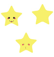 Funny stars vector image