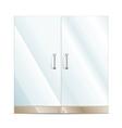 Glass door vector image