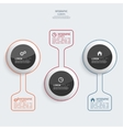 Glossy colorful plastic buttons for infographic vector image