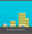 growth of business buildings of company small vector image