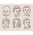 hand-drawn children vector image