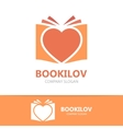 heart and book logo vector image