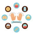 homemade food vector image