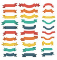 ribbon set in flat style isolated on white vector image