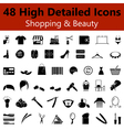Shopping and Beauty Smooth Icons vector image