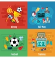 Soccer Flat Set vector image