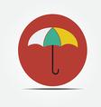 Umbrella Flat style icon vector image