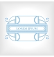 Vintage blue frame with vegetable elements for vector image