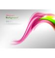 wave neon light vector image