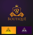Elegant Luxury Badge Logo Luxury Crown Logo vector image