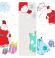 fun christmas banners with blue dogs vector image