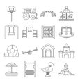 Playground icons set outline style vector image