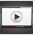 Video Player Template vector image vector image