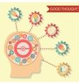 flat design style businessman head thought idea vector image