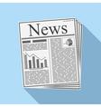 Newspaper vector image vector image