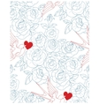 Old school tattoo seamless with tru love signs vector image