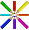 pencils object vector image vector image