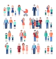 Family Flat Images Set vector image