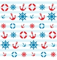 sea theme pattern vector image vector image