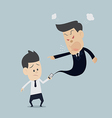 Angry boss upset cartoon vector image