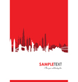 cityscape red vector image