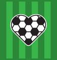 football love logo vector image