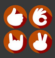 hands gesture icons set vector image