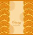 icon orange card vector image