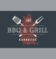 logo template of restaurant vector image