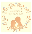 love wreath vector image