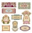 Ornate vintage labels in style Art Nouveau vector image
