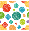 Seamless pattern with colorful doodle circles vector image