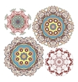 set of kaleidoscopic floral pattern vector image